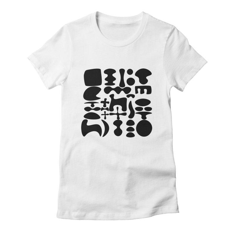 Birds & Moon & Sun & Miró Women's T-Shirt by Rodrigo Tello