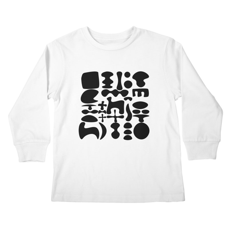 Birds & Moon & Sun & Miró Kids Longsleeve T-Shirt by Rodrigo Tello