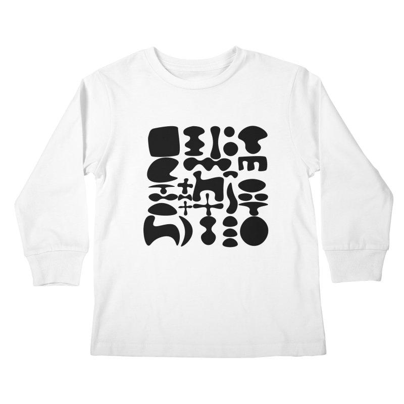 Birds & Moon & Sun & Miró Kids Longsleeve T-Shirt by Rodrigo Tello