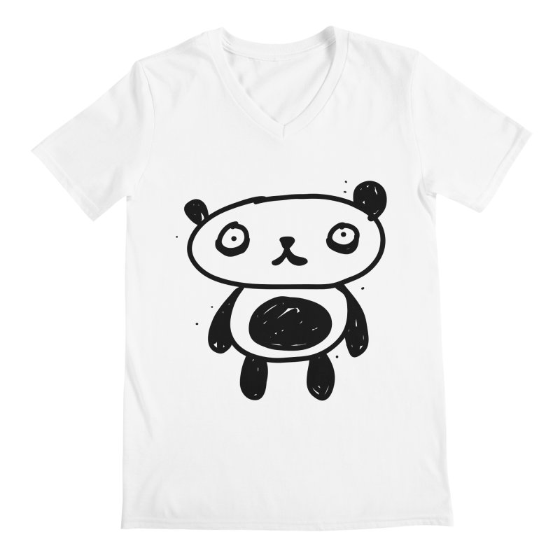 Big Sad Panda Men's V-Neck by Rodrigo Tello