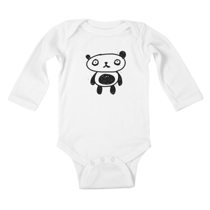 Big Sad Panda Kids Baby Longsleeve Bodysuit by Rodrigo Tello