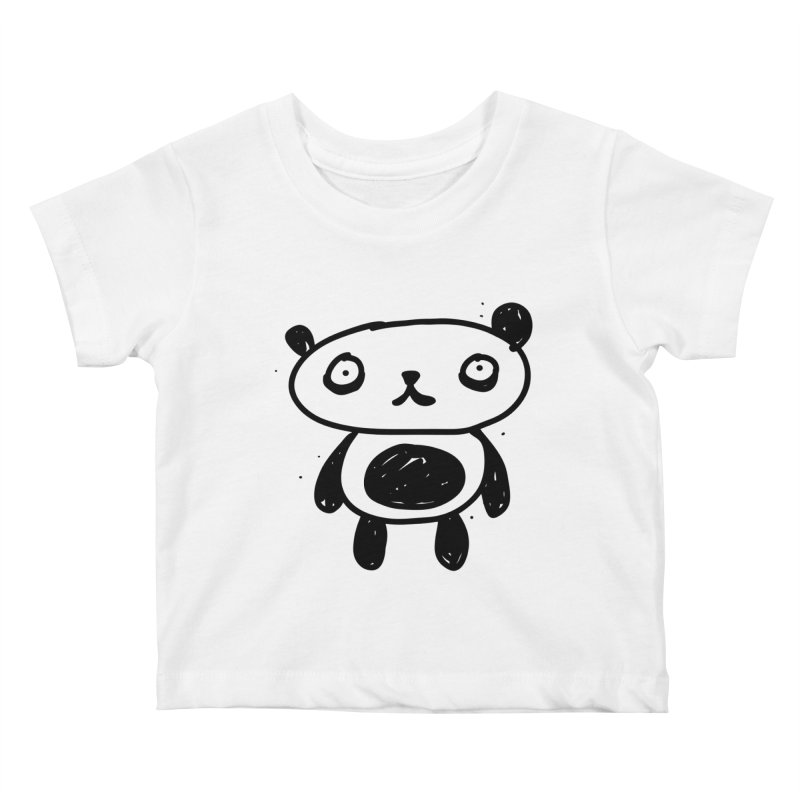 Big Sad Panda Kids Baby T-Shirt by Rodrigo Tello