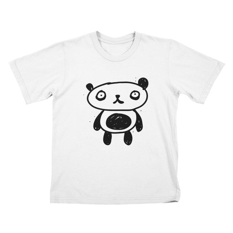Big Sad Panda Kids T-Shirt by Rodrigo Tello