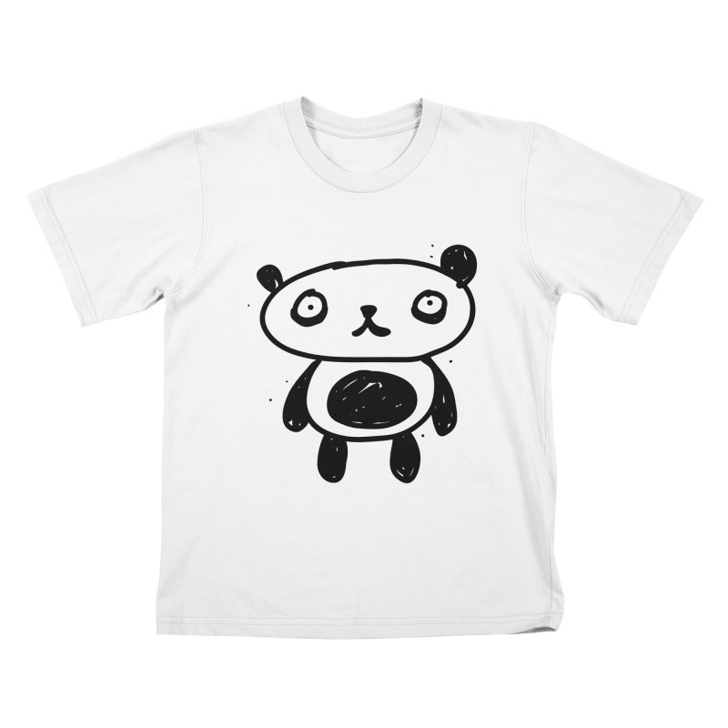 Big Sad Panda Kids T-Shirt by Rodrigo Tello