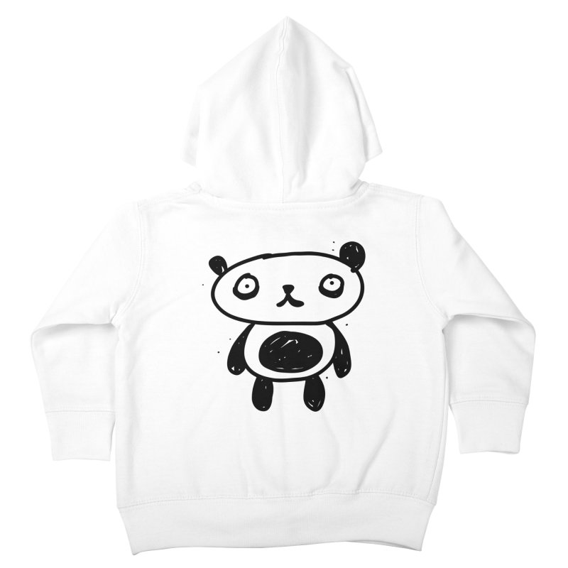 Big Sad Panda Kids Toddler Zip-Up Hoody by Rodrigo Tello