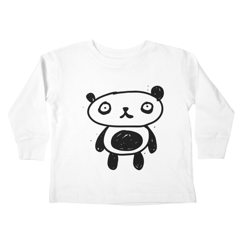 Big Sad Panda Kids Toddler Longsleeve T-Shirt by Rodrigo Tello
