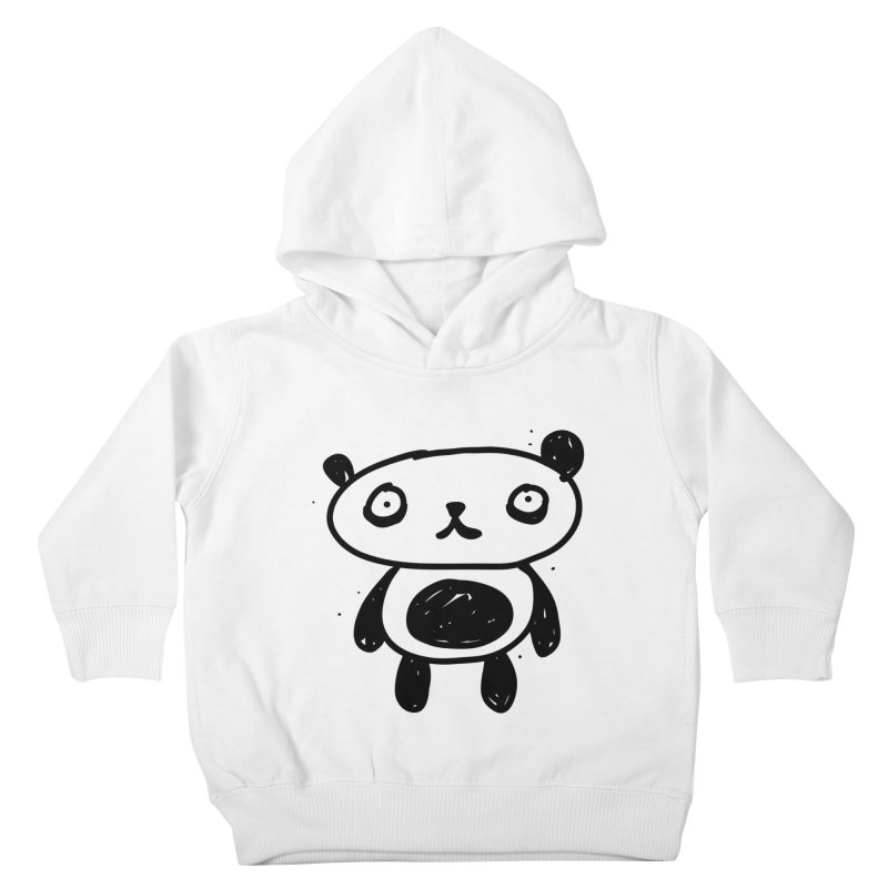 Big Sad Panda Kids Toddler Pullover Hoody by Rodrigo Tello