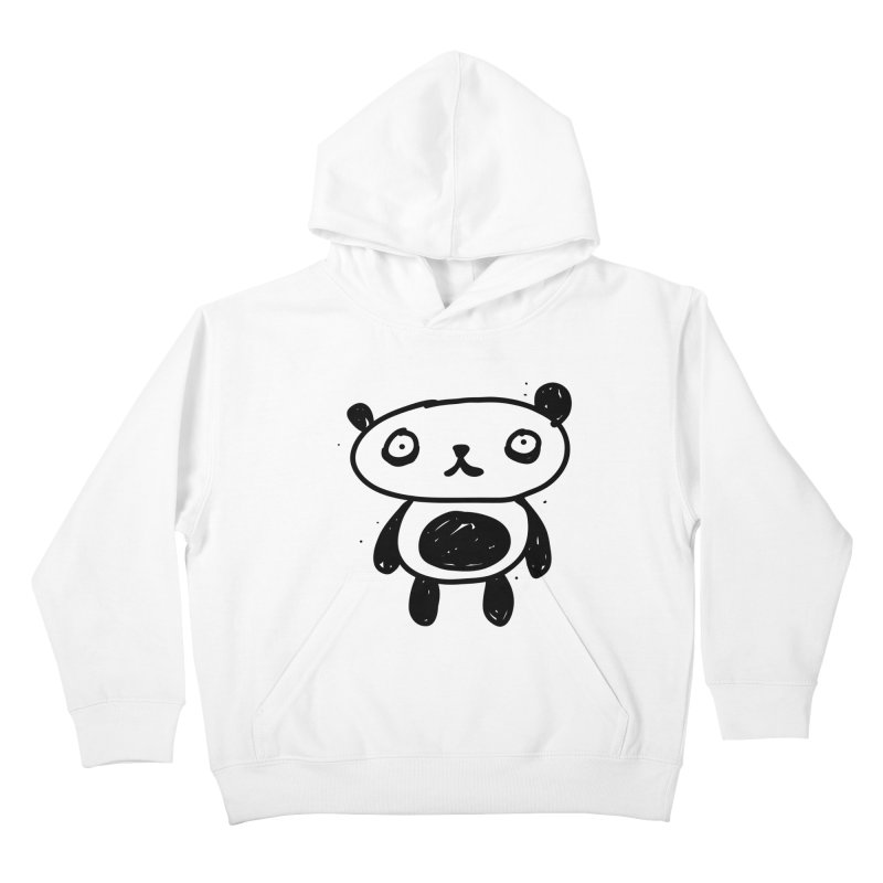 Big Sad Panda Kids Pullover Hoody by Rodrigo Tello