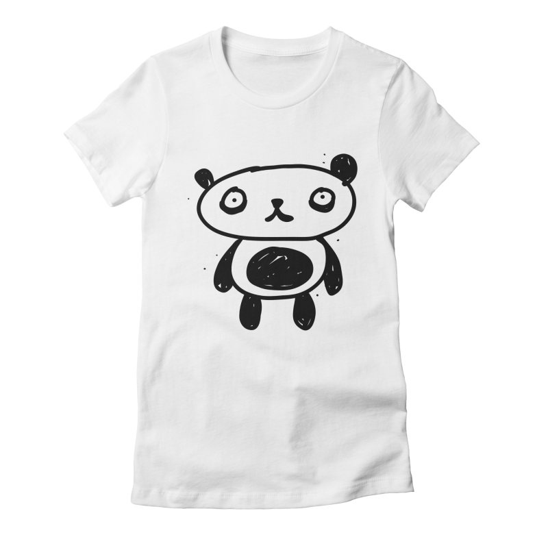 Big Sad Panda Women's Fitted T-Shirt by Rodrigo Tello