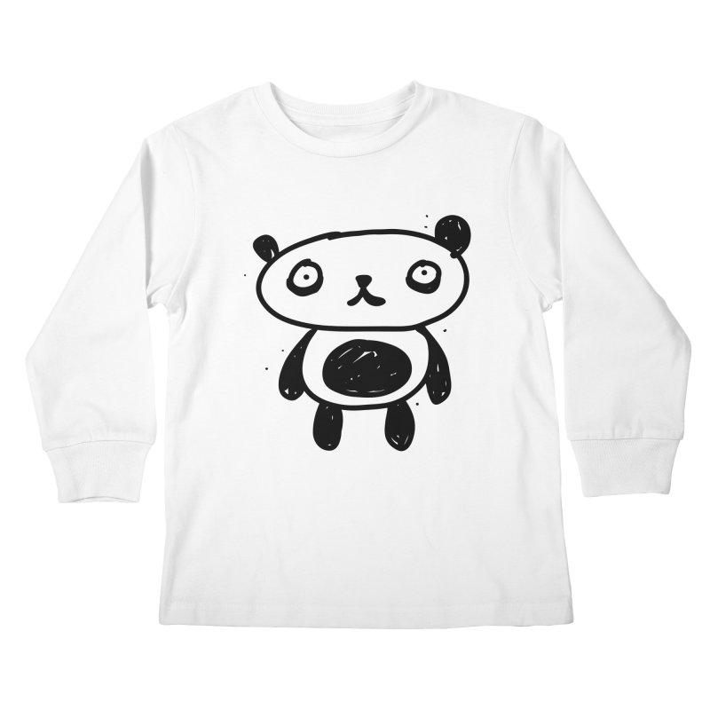 Big Sad Panda Kids Longsleeve T-Shirt by Rodrigo Tello