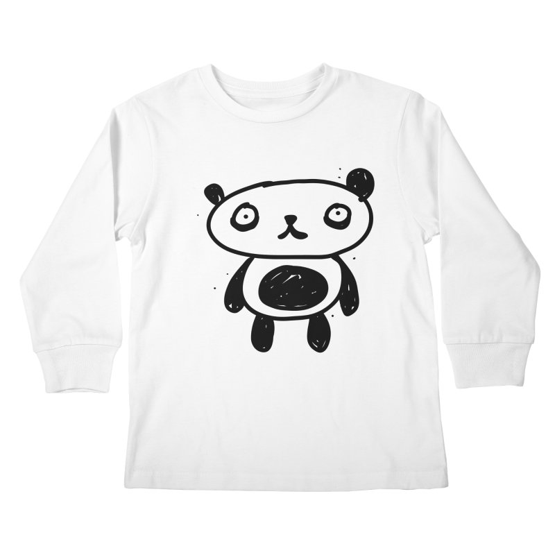 Big Sad Panda Kids Longsleeve T-Shirt by Rodrigo Tello