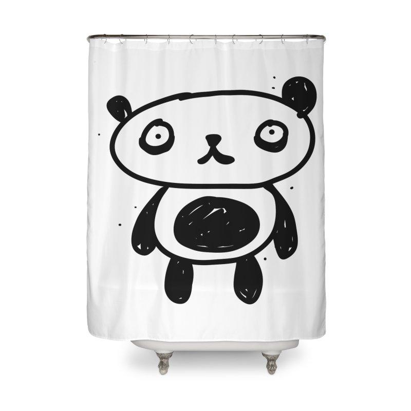 Big Sad Panda Home Shower Curtain by Rodrigo Tello