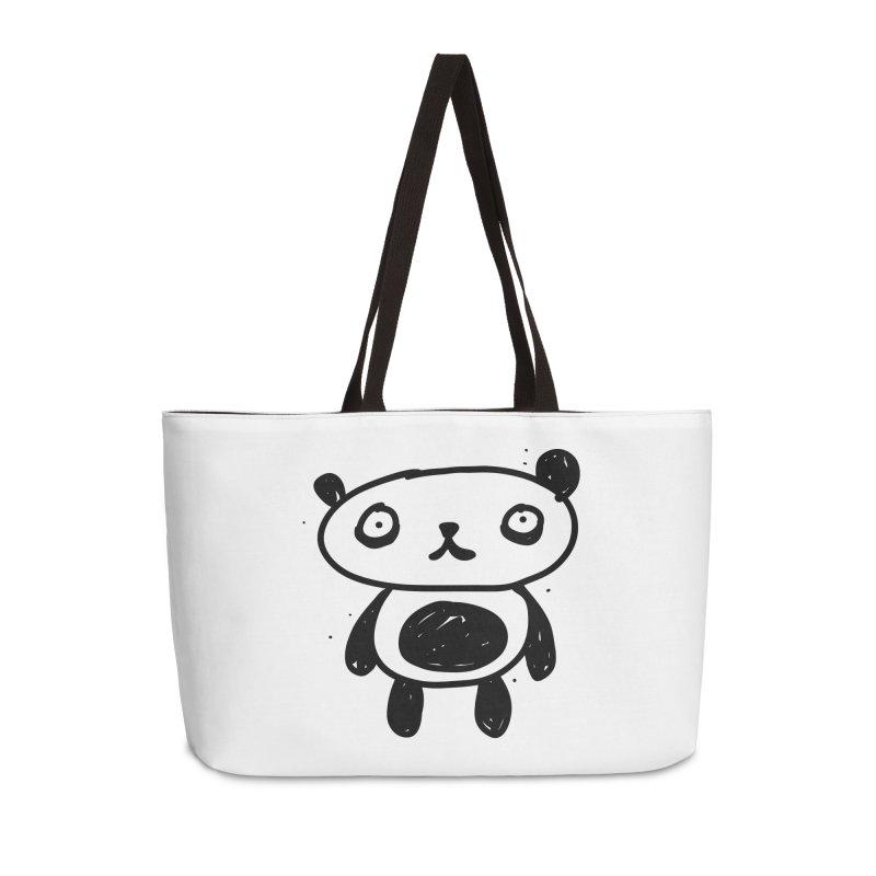 Big Sad Panda Accessories Bag by Rodrigo Tello