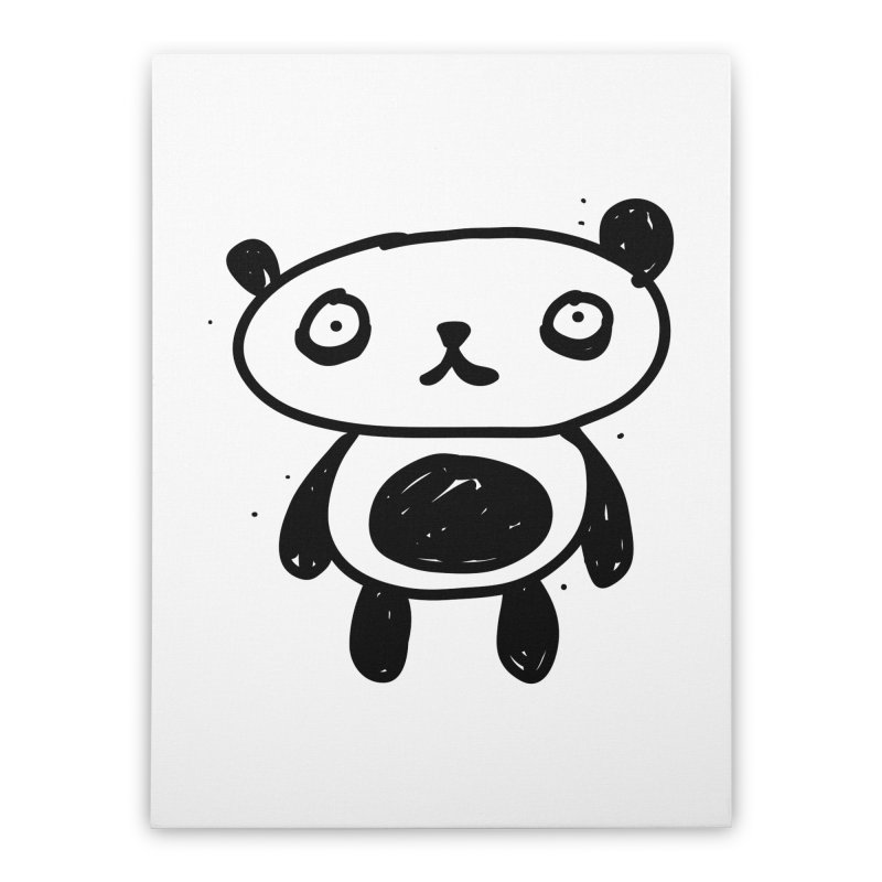 Big Sad Panda Home Stretched Canvas by Rodrigo Tello