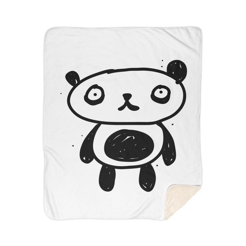 Big Sad Panda Home Blanket by Rodrigo Tello