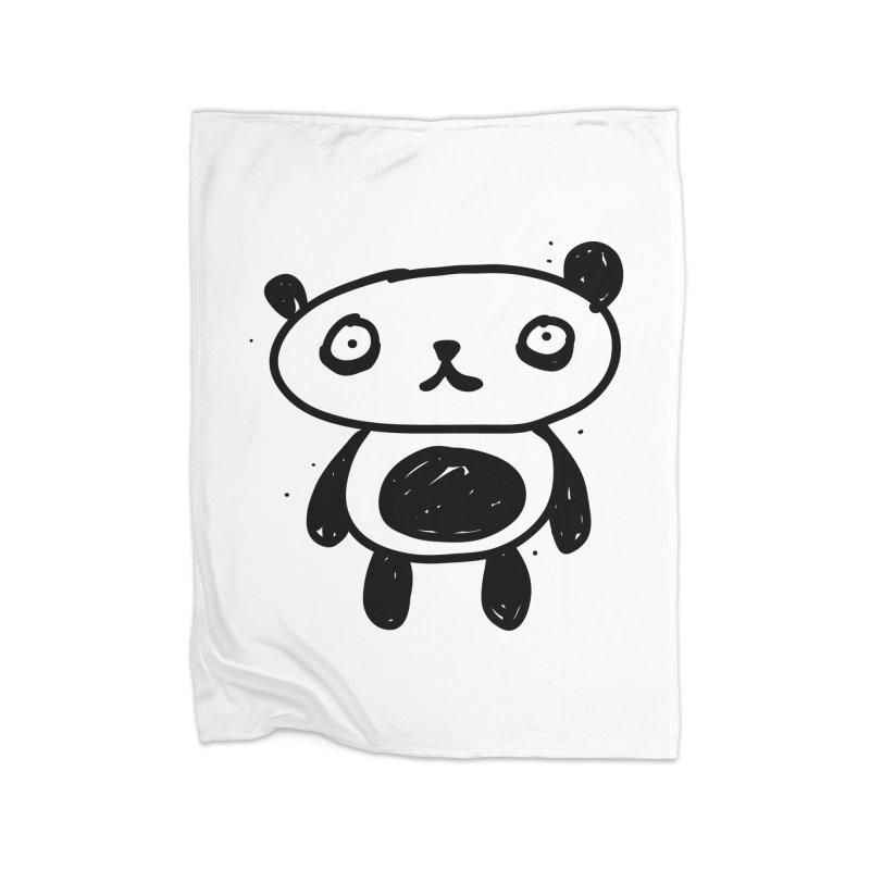 Big Sad Panda Home Blanket by Rodrigo Tello