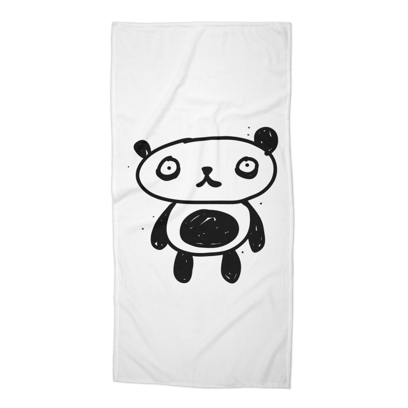 Big Sad Panda Accessories Beach Towel by Rodrigo Tello