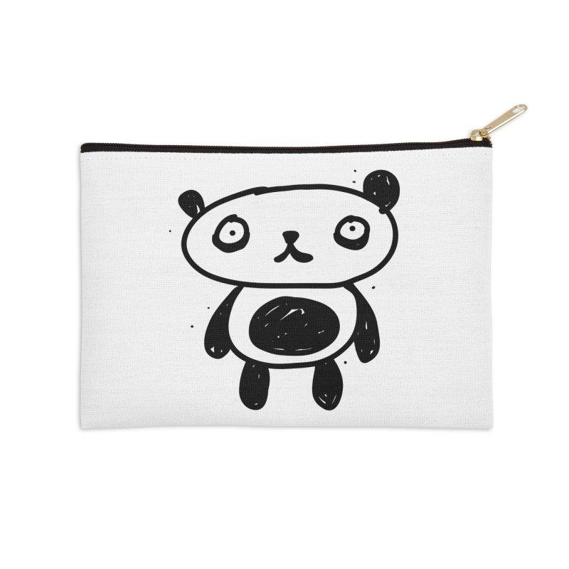 Big Sad Panda Accessories Zip Pouch by Rodrigo Tello