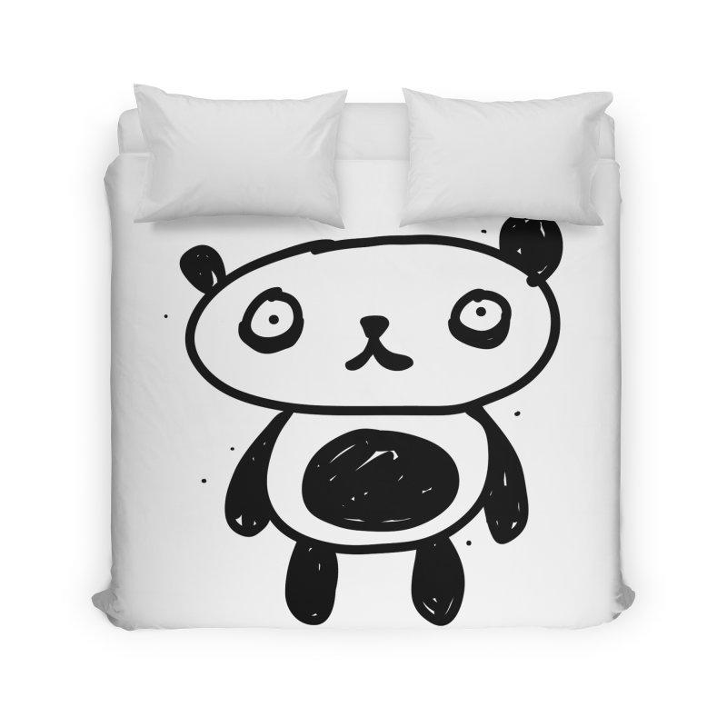 Big Sad Panda Home Duvet by Rodrigo Tello