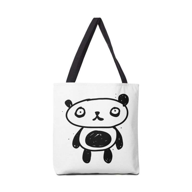 Big Sad Panda Accessories Bag by Rodrigo Tello