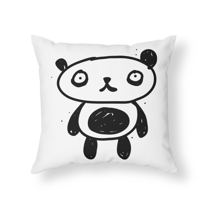 Big Sad Panda Home Throw Pillow by Rodrigo Tello