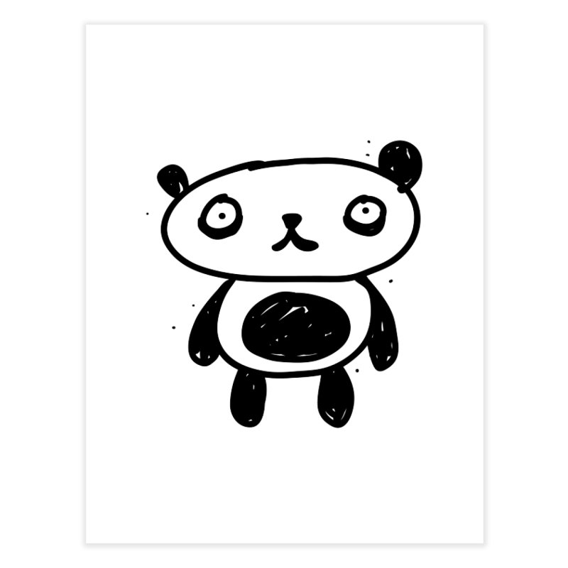 Big Sad Panda Home Fine Art Print by Rodrigo Tello