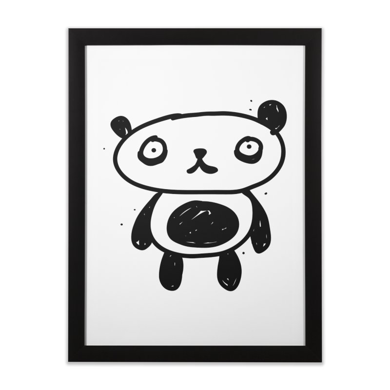 Big Sad Panda Home Framed Fine Art Print by Rodrigo Tello