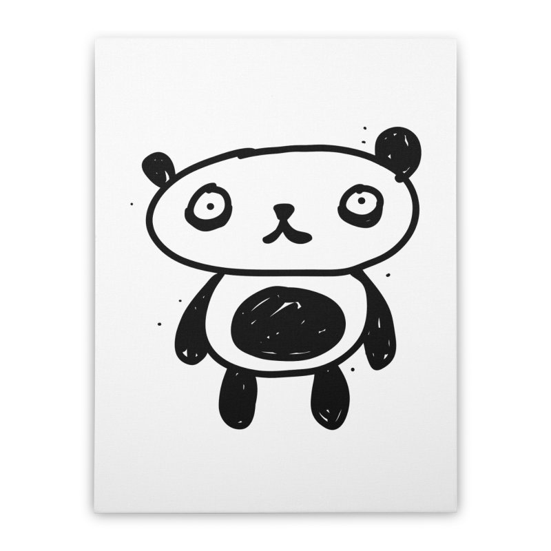 Big Sad Panda Home Stretched Canvas by Rodrigo Tello
