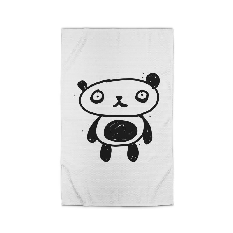 Big Sad Panda Home Rug by Rodrigo Tello