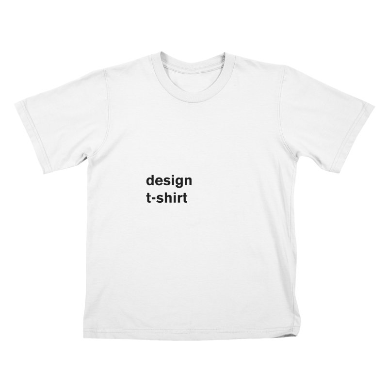 design tshirt Kids T-Shirt by Rodrigo Tello