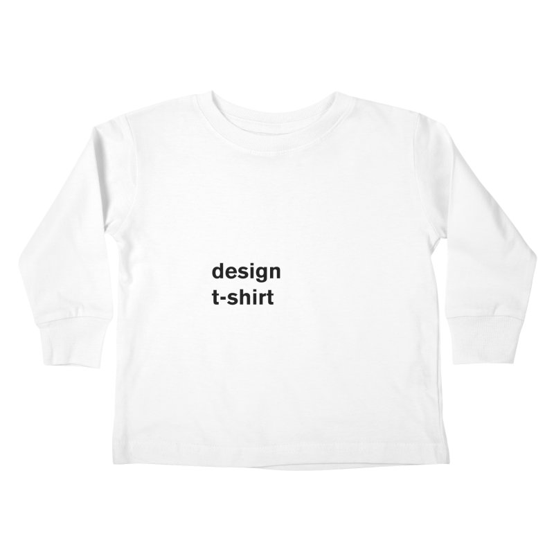 design tshirt Kids Toddler Longsleeve T-Shirt by Rodrigo Tello