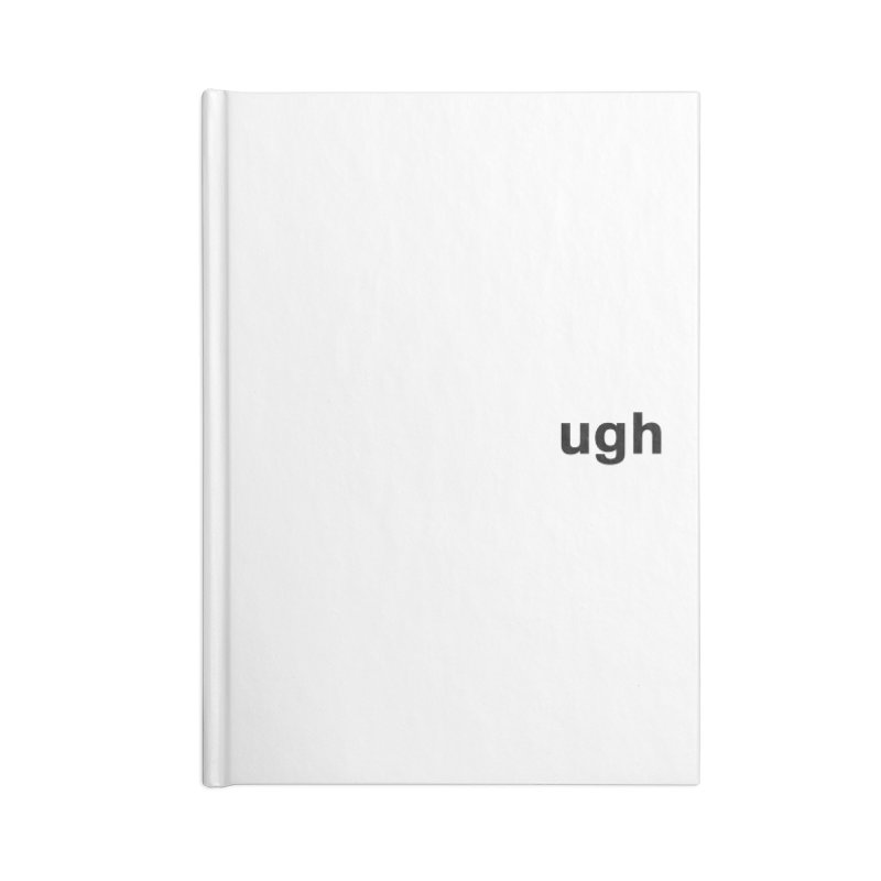 ugh Accessories Lined Journal Notebook by Rodrigo Tello