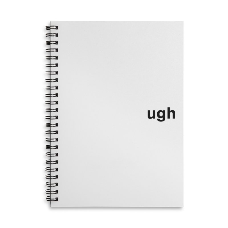 ugh Accessories Lined Spiral Notebook by Rodrigo Tello