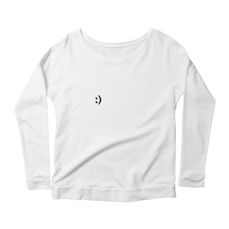 :) Women's Scoop Neck Longsleeve T-Shirt by Rodrigo Tello