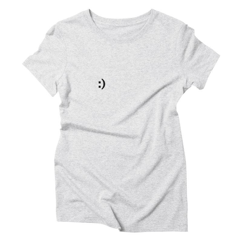 :) Women's Triblend T-Shirt by Rodrigo Tello