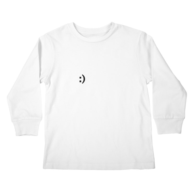 :) Kids Longsleeve T-Shirt by Rodrigo Tello