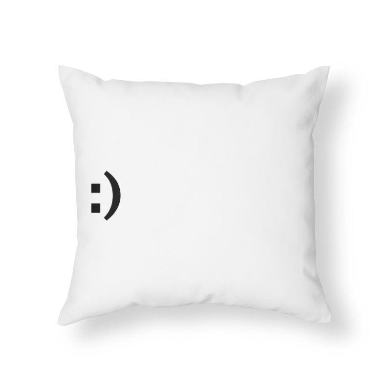 :) Home Throw Pillow by Rodrigo Tello