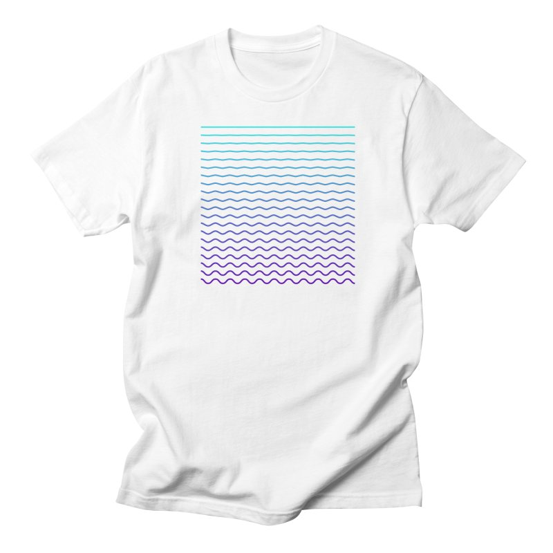 Waves 01 in Men's T-shirt White by Rodrigo Tello
