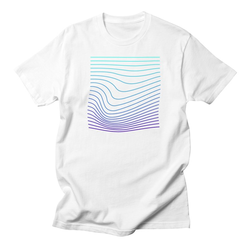 Waves 04 in Men's Regular T-Shirt White by Rodrigo Tello