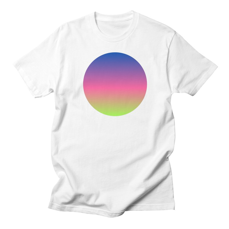 Circle in Men's T-shirt White by Rodrigo Tello