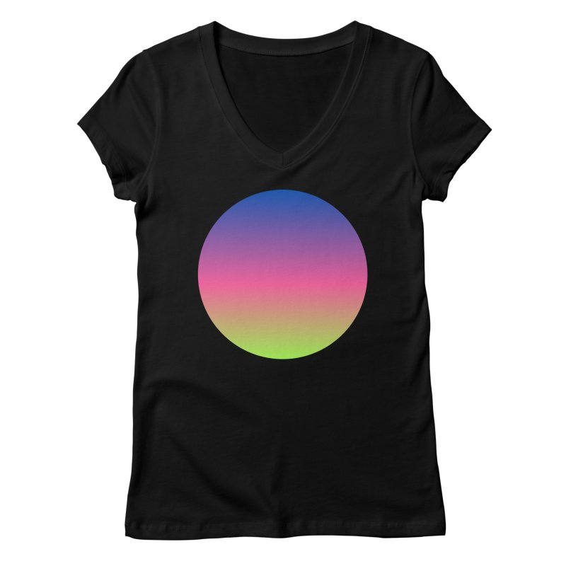 Circle in Women's Regular V-Neck Black by Rodrigo Tello
