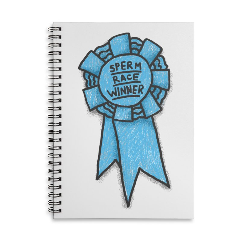 Everyone is a winner Accessories Lined Spiral Notebook by Rodrigobhz