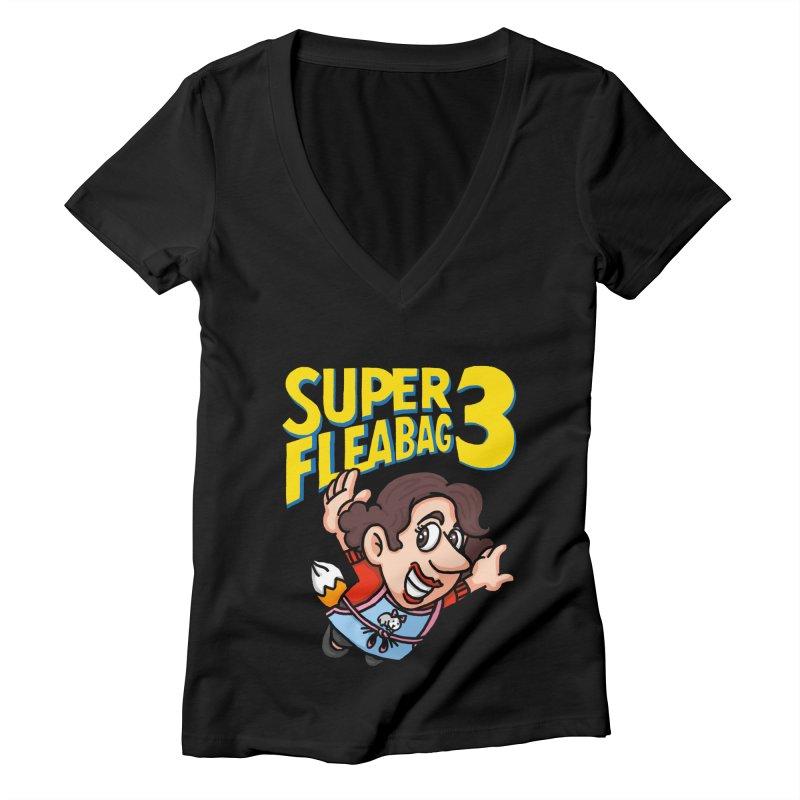 Super Fleabag 3 Women's Deep V-Neck V-Neck by Rodrigobhz