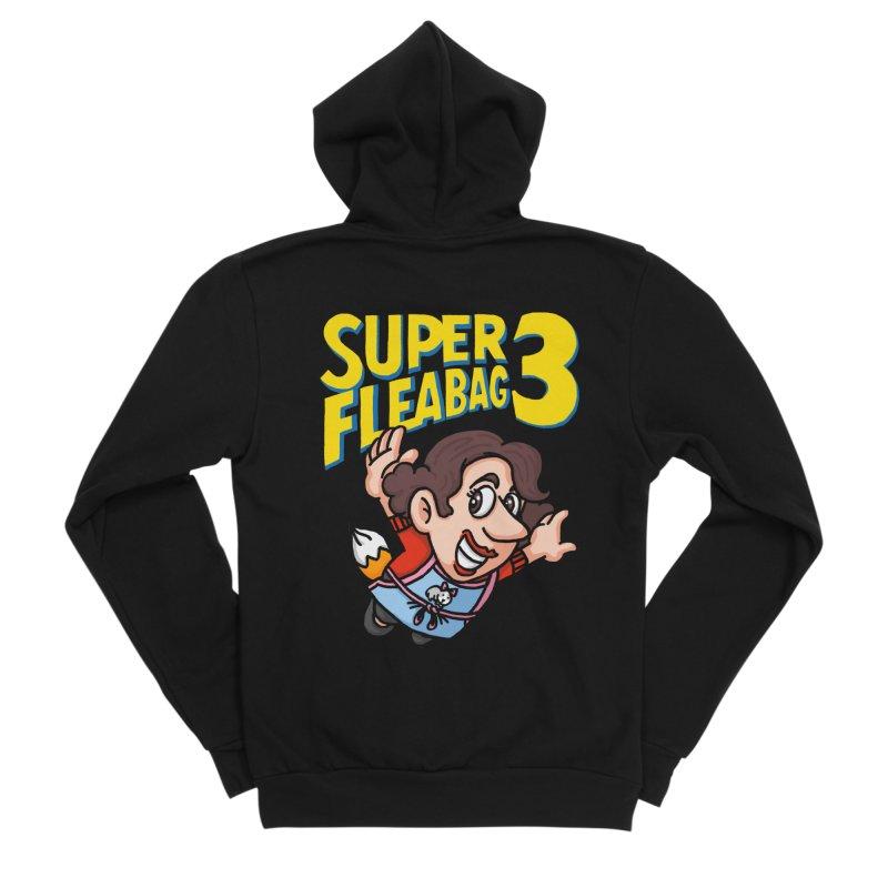 Super Fleabag 3 Men's Sponge Fleece Zip-Up Hoody by Rodrigobhz