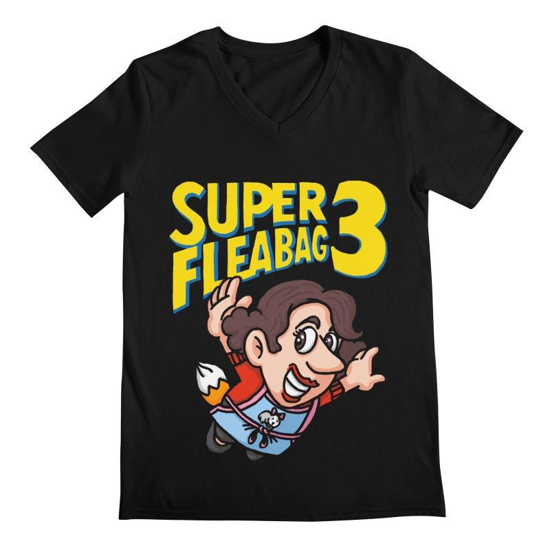 Super Fleabag 3 Men's Regular V-Neck by Rodrigobhz