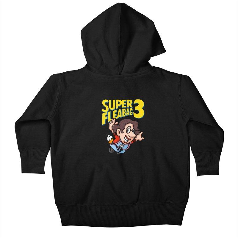 Super Fleabag 3 Kids Baby Zip-Up Hoody by Rodrigobhz