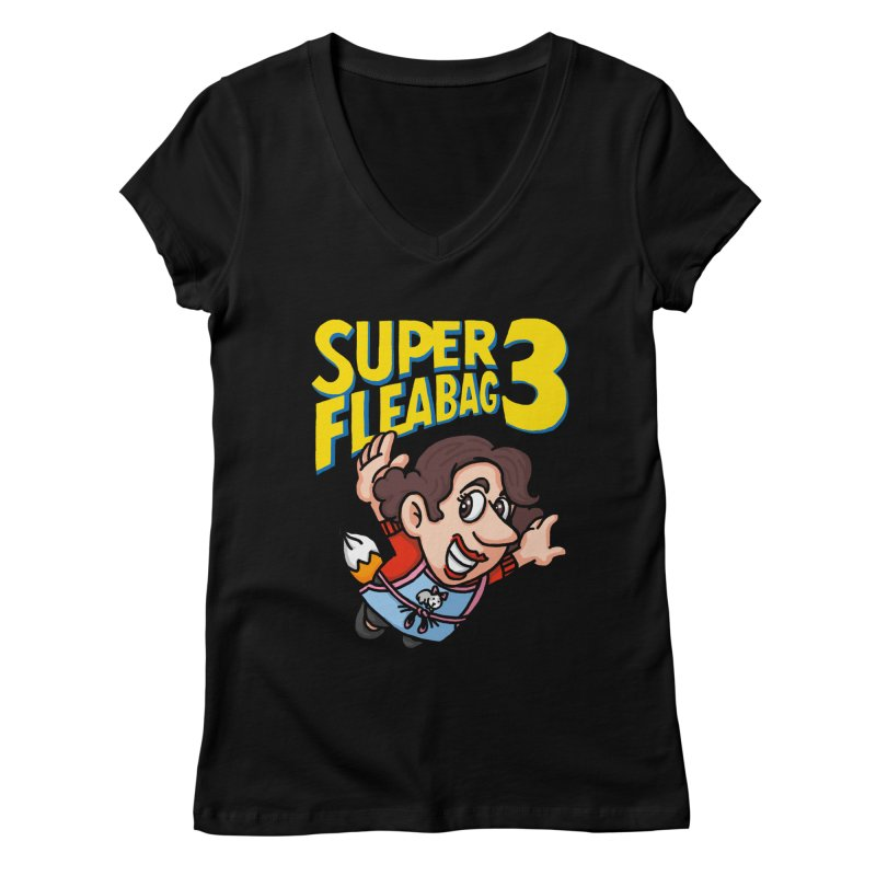Super Fleabag 3 Women's Regular V-Neck by Rodrigobhz