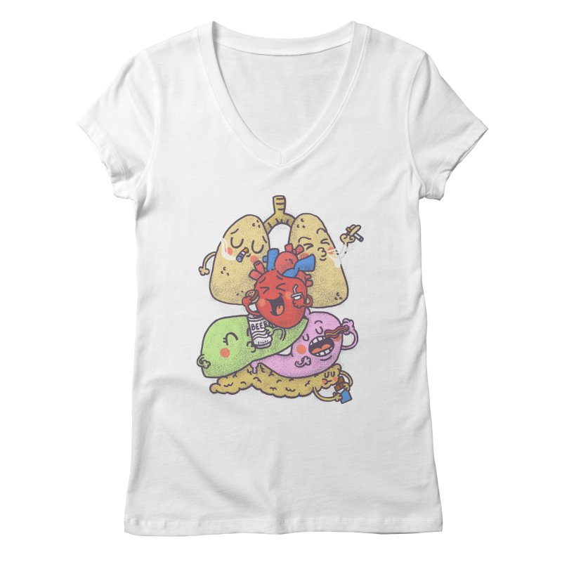 Bad habits Women's Regular V-Neck by Rodrigobhz