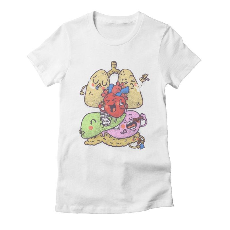 Bad habits Women's Fitted T-Shirt by Rodrigobhz