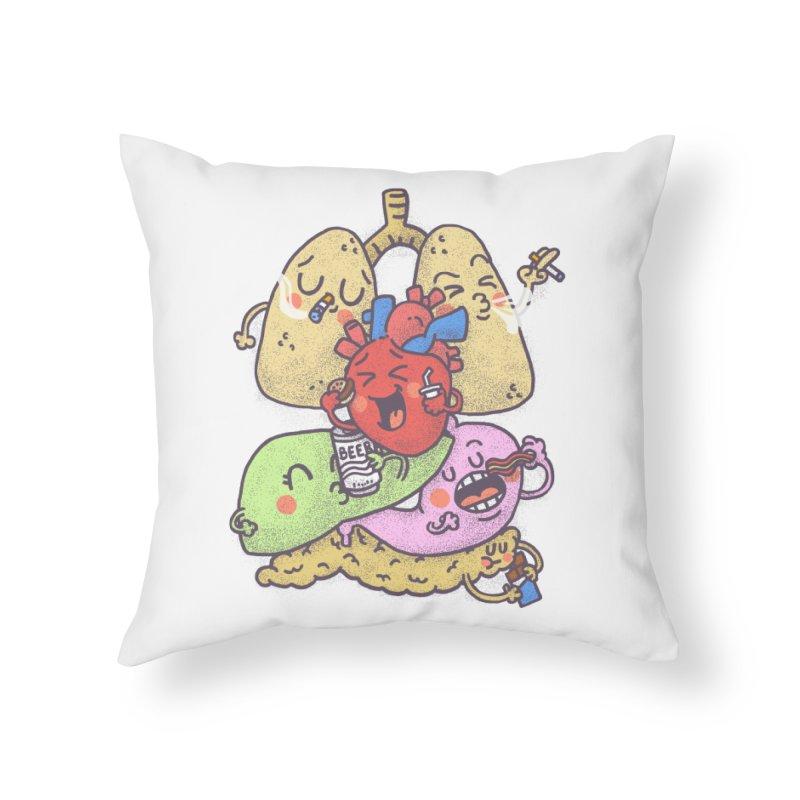 Bad habits Home Throw Pillow by Rodrigobhz